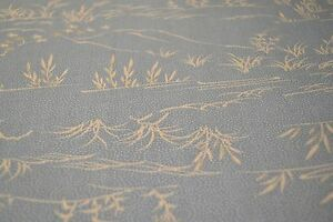 Japanese wool Blue with White Reeds 1195