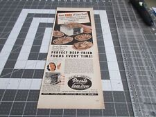1953 Presto Deep-Fryer, Print Ad Perfect Deep Fried Foods Every Time !