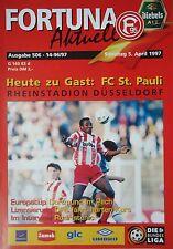 Programm 1996/97 Fortuna Düsseldorf - FC St. Pauli