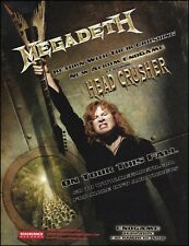 Megadeth 2009 Endgame 8 x 11 ad Dave Mustaine Angel of Deth Dean Guitar