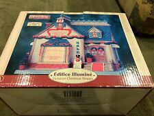 "LEMAX 2008 ""VICTORIAN CHRISTMAS SHOPPE"" Porcelain Village IN BOX NICE USED"