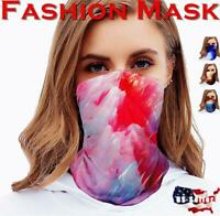 3Pcs Women Reusable Face Mask Cover Cloth Neck Warmer Gaiter Wrap Scarf Masks US