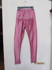 women size XS/S Costume India Gypsy Pink Mauve Pants Thin 34/85cm Beads Genie