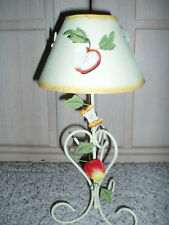 New~CHESAPEAKE BAY Painted Metal Tealight Holder Candle Lamp~Apple Lampshade