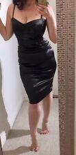 DOLCE & GABBANA Gunmetal Gray Belted Bodycon Bustier Dress IT 40