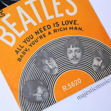 ORIGINAL THE BEATLES ALL YOU NEED IS LOVE BABY RICH MAN 7 INCH VINYL 1966 V.RARE