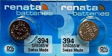 394 RENATA WATCH BATTERIES SR936SW (2 Pieces) New packaging Authorized Seller