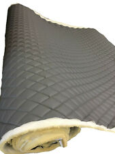 Gray Quilted Upholstery Vinyl Fabric with 3/8