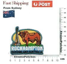 Rockhampton Queensland Cow Australia Embroidered Iron Sew on Patch Motif Badge