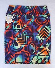 LULAROE ( XXL ) CASSIE SKIRT * NWT * Black & Electric Neon Multicolor * 2XL *