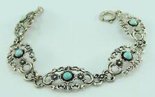 Vintage Damen Trachten Armband 835er Silber mit Türkis