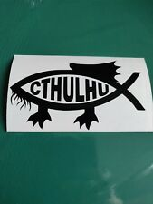 Cthulhu Fish - Funny/Car/Van/Camper/Bike Decal Sticker Vinyl Graphic