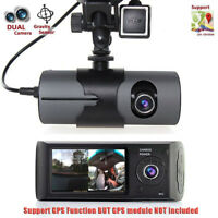 "2.7"" Vehicle 1080P Car DVR Camera Video Recorder Dash Cam Dual Lens G-Sensor"