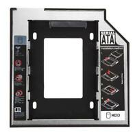 Black New SATA 2nd HDD HD SSD Hard Drive Caddy Adapter Bay for Universal Laptops