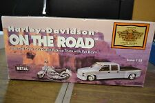 """Harley-Davidson On The Road"" Chevy Crew Cab and Fat Boy 1:25 Scale Model"