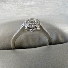 Tiffany & Co. 0.30 ct G-IF Cushion Diamond Legacy Platinum Ring Size 5.5