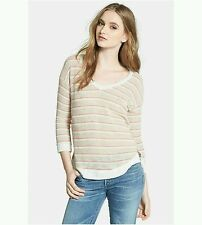 SplendidSweater XS NWOT STRIPED V NECK