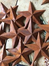 """Lot of 25 Rusty Barn Stars 3.5 in 3 1/2"""" Primitive Country 2D Rust Craft Supply"""