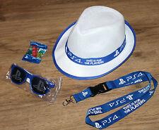 Playstation 4 PS4 promo Hat / Sunglasses / Lanyard / Haribo from Gamescom 2015