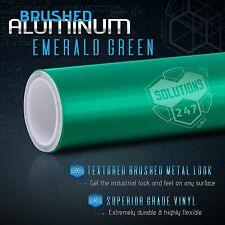 "60""x108"" Inch Emerald Green Brushed Aluminum Vinyl Wrap Decal Air Bubble Free"