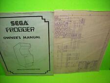 Sega FROGGER Original 1981 Video Arcade Game Service Owners Manual Made In Japan