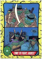 Meal Time #87 Teenage Mutant Ninja Turtles 1989-1990 Topps Card C2519 Cowabunga
