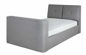 Jakob Double TV Ottoman Bed Frame - Grey