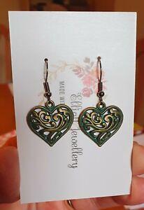 Bronze Heart Earrings ❤💙💜