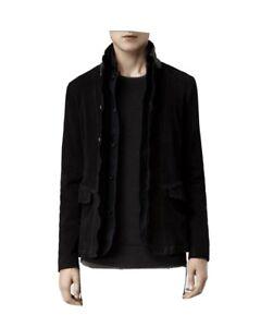 All Saints Graft mens leather blazer jacket - Medium