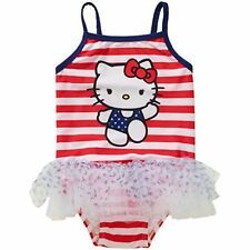 Hello Kitty Girls Swimsuit Bathing Suit Swim 4th July Patriotic Size 3-6 Mo NWT