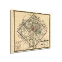 1862 Washington DC Vintage Map - Vintage State of Washington DC Wall Art Poster