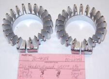 "1963-1970 Triumph T120 650 1-3/4"" EXHAUST header clamp PAIR 21 fin 70-4501 UK"