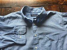 Brooks Brothers 100% Cotton Shirt Button Front Mens M Blue Stripes