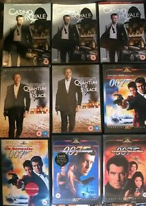 James Bond DVDs Various Titles Choose From List