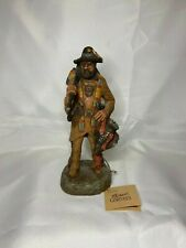 Original Michael Garman Sculpture Mountain Man Handpainted Made in America 9