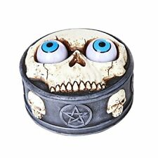 Novelty Rolling Evil Eye Balls Skull Box Pentagram Skull Resin Trinket Box Gift