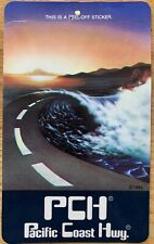 Vintage 1980s Pch Pacific Coast Highway Surfing Skateboard Sticker Decal