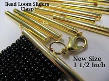 End Caps Slider Clasps, 1 1/2 Inch, Gold Color, 8 Piece/4 Sets