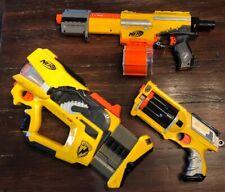 Nerf N-Strike Blaster Lot Firefly REV-8, Maverick REV-6, And Alpha Trooper CS-18