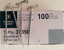 T-Pins 1.5 Inch (38mm) Posting Memos Cubicle Panels,  Sewing  Crafts  100 Ct/Pk