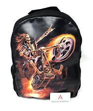 Rucksack Hell Rider Zaino Fantasy Nemesis Now Biker Metal Teschio Motocicletta