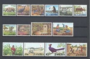ZAMBIA 1975 SG 226/39 MNH Cat £17