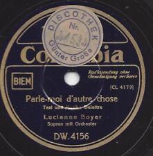 Lucienne Boyer 1941 : Parlez-Moi d`autre chose + J`ai lassè mon Coeur