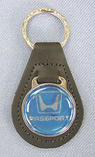 Vintage Blue Honda PASSPORT Black Leather Key Ring Key Fob Key Holder