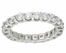U shape Size 5.5 0.05, ct each 1.15 ct Round Diamond Ring Platinum Eternity Band