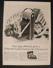 1956 Polaroid Land Camera Photo Black~White Photography Equipment Christmas AD