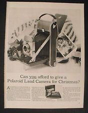 1956 Polaroid Land Camera Photo Black~White Photography Equipment Christmas AD