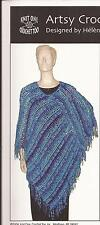 Easy Artsy Crochet Poncho K1C2 Crochet Pattern 1159 Advanced-Beginner Filet Lace