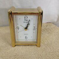 Seiko Small Gold Metal Desk Clock