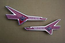 "1956 Ford ""Thunderbird V8"" Lower Front Fender Emblems NEW SHOW CONDITION Pair 56"